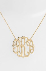 Argentovivo Women's Argento Vivo Personalized Large 3 Initial Letter Monogram Necklace Nordstrom Exclusive