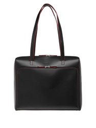 Lodis Audrey Under Lock And Key Top Zip Leather Tote Black