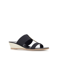 Carvela Comfort Suri Low Wedge Heel Sandals Black