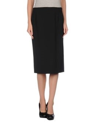 Gai Mattiolo Couture Knee Length Skirts Black