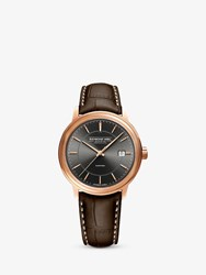 Raymond Weil 2237 Pc5 60011 'S Automatic Date Leather Strap Watch Brown Grey