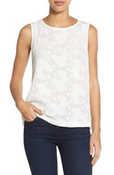 Women's Gibson Embossed Front Sleeveless Top White