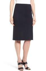 Ming Wang Straight Skirt Navy