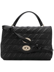 Zanellato Quilted Shoulder Bag Black