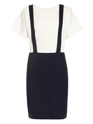 Band Of Outsiders Trompe L'oeil Suspender Cotton Dress