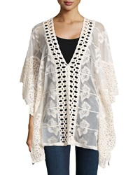 Xcvi Serafina Sheer Embroidered Tunic Natural