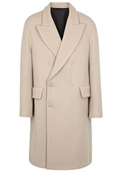 Acne Studios Rover Light Taupe Wool Coat Beige