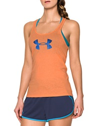 Under Armour Logo Tech Tank Orange