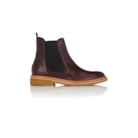 Barneys New York Leather Chelsea Boots Wine Bordeaux