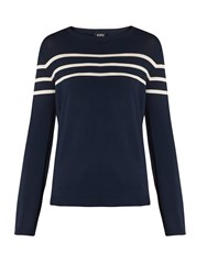 A.P.C. Pull Joy Striped Sweater Navy White
