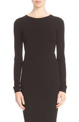 Cushnie Et Ochs Women's Ryan Knit Lace Up Back Crop Top