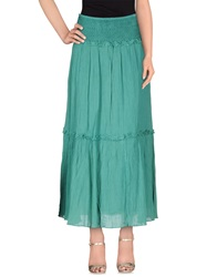 Class Roberto Cavalli Long Skirts Green
