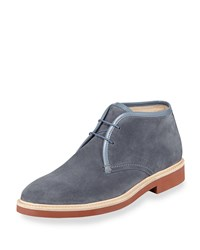 Suede Chukka Boot Light Blue Ermenegildo Zegna