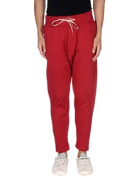 Minimal Casual Pants Red
