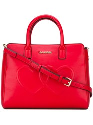 Love Moschino Heart Tote Red