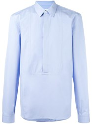 Maison Martin Margiela Concealed Placket Shirt Blue
