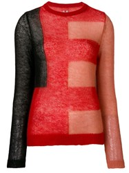 Rick Owens Knitted Jumper Red