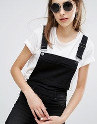 Cheap Monday Superskinny Short Dungarees With Cut Off Hem Black Sin