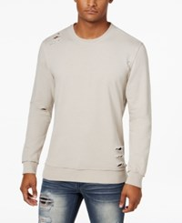 Inc International Concepts Men's Ripped Sweatshirt Only At Macy's Grey