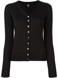 Eleventy Button Down Cardigan Black