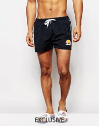 Ellesse Swim Shorts With Taping Exclusive To Asos Black