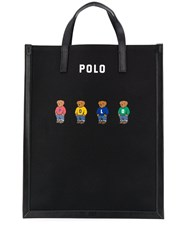 Polo Ralph Lauren Logo Printed Tote Bag Black