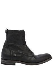 Alexander Hotto Washed Leather Lace Up Boots