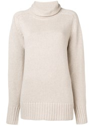 Joseph Oversized Roll Neck Knitted Sweater Neutrals