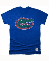 Retro Brand Men's Florida Gators Mock Twist Team Logo T Shirt Royalblue