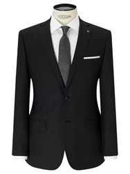 Daniel Hechter Textured Tailored Fit Suit Jacket Charcoal