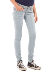 Modern Eternity Women's Skinny Maternity Jeans Light Blue Wash