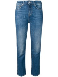 7 For All Mankind Asher Vintage Straight Cut Jeans Blue
