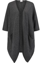 Madeleine Thompson Cashmere Asymmetric Cardigan Charcoal