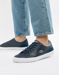 Lacoste Lerond Bl 1 Trainers In Navy