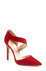 Vince Camuto 'Carlotte' Pointy Toe Pump Women Ruby Red Suede