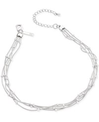 Inc International Concepts Silver Tone Ball Chain Choker Necklace Only At Macy's