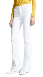 Hudson Holly High Rise Flare Jeans White