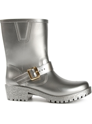 Marc By Marc Jacobs Buckled Wellington Boots Grey