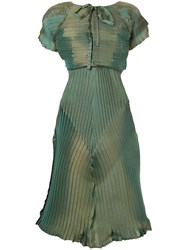 Issey Miyake Vintage Iridescence Two Pieces Suit Green