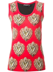 Dolce And Gabbana 'Sacred Heart' Print Tank Top