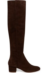 Halston Heritage Jennifer Suede Knee Boots Dark Brown