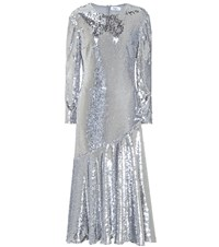 Racil Sequined Dress Silver