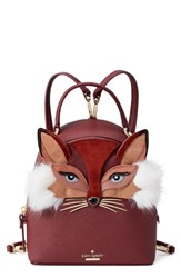 Kate Spade New York So Foxy Binx Leather Backpack Red Sienna