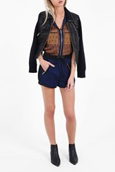 3.1 Phillip Lim Women S Drawstring Waist Shorts Boutique1 Navy