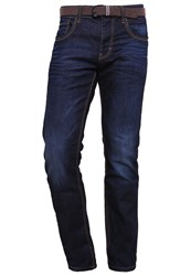 Tom Tailor Marvin Straight Leg Jeans Dark Stone Wash Denim Dark Blue Denim