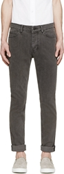 Surface To Air Black Faded Slim Jeans
