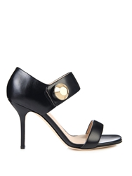 Christopher Kane Big Crystal Leather Sandals