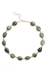 Ela Rae Women's Sadie Collar Necklace Emerald