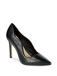 Saks Fifth Avenue Karlie Leather High Heel Pumps Black