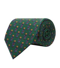 Polo Ralph Lauren Silk Bear Tie Green